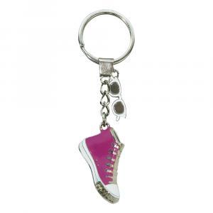 Schlüsselanhänger Sneaker/Sonnenbrille, Pink/Weiß