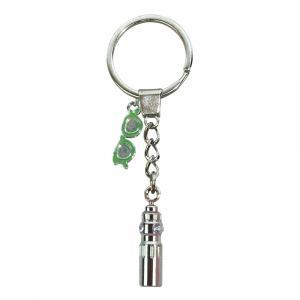 Schlüsselanhänger Trinkflasche/Sonnenbrille, Silber