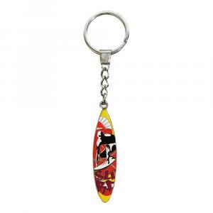 Schlüsselanhänger Surfbrett, Bunt