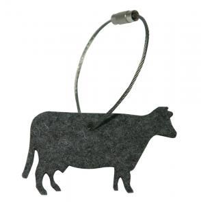 Schlüsselanhänger Filz, Kuh, Anthrazit