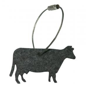 Schlüsselanhänger Kuh Filz, anthrazit