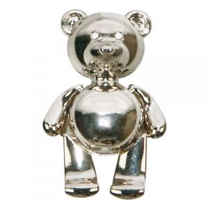 Magnet Teddybär, Silber
