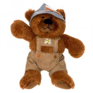 Teddybär Seppi, Älplerhut, Braun