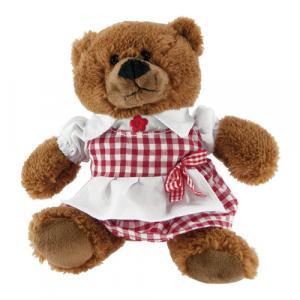 Teddybär Elli, Dirndl, Braun/Rot/Weiß