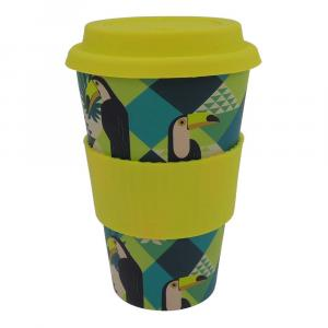 Coffee-to-Go-Becher Bambus, Exotic Birds, 400 ml