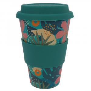Coffee-to-Go-Becher Bambus, Tropical Island, 400 ml