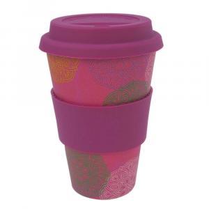 Coffee-to-Go-Becher Bambus, Mandala Spirit, 400 ml