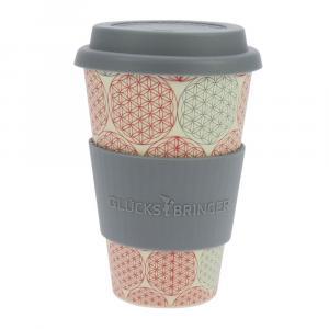 Coffee-to-Go-Becher Bambus, Blume des Lebens, 400 ml