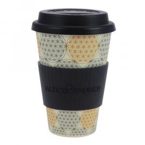Coffee-to-Go-Becher Bambus, Blume des Lebens, B&G, 400 ml