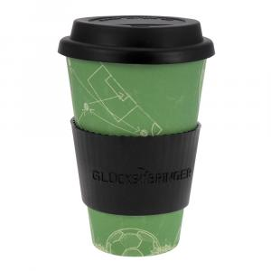 Coffee-to-Go-Becher Bambus, Fußball Teamplayer, 400 ml