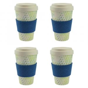 Coffee-to-Go-Becher Bambus 4er Set, Dynamic New II, 450 ml
