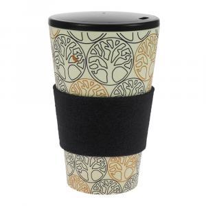 Coffee-to-Go-Becher Bambus, Baum des Lebens 2, B&G, 450 ml