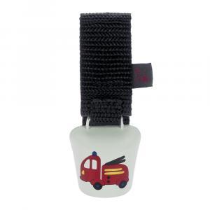 Kinder Fahrradklingel Alpenhupe Feuerwehrauto, Weiß/Rot