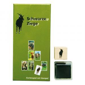 Kartenspiel Schwarze Ziege, Grün/Schwarz