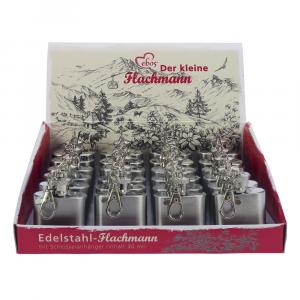 Box Edelstahl Mini-Flachmann, Blanko, 1 oz