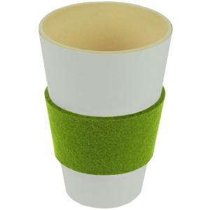 Bechermanschette Filz, Gelbgrün