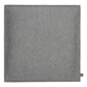 Filz Kissen Quadratisch, Hellgrau, 40 x 40 cm