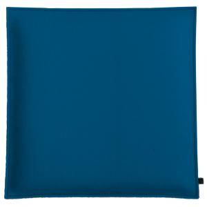 Filz Kissen Quadratisch, Jeansblau/Hellgrau, 40 x 40 cm