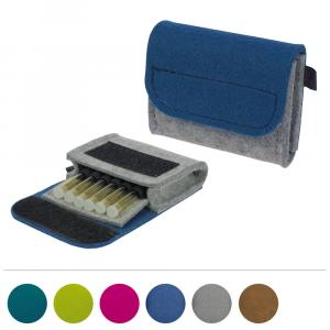 Taschenapotheke Globuli, Filz, 6 Schlaufen, in 5 Farben