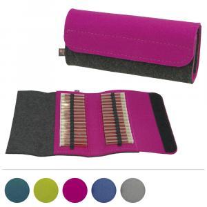Taschenapotheke Globuli, Filz, 32 Schlaufen, in 5 Farben