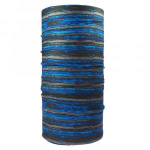 Multifunktionstuch Streifen, Blau/Schwarz