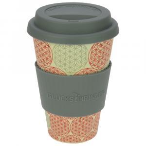 """Coffee-to-Go-Becher aus Bambus """"Blume des Lebens"""""""