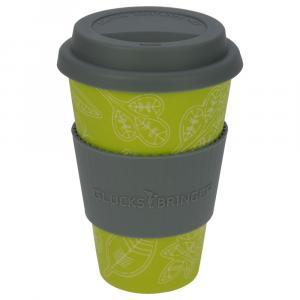 Coffee-to-Go-Becher Bambus, Glücksblatt, 400 ml
