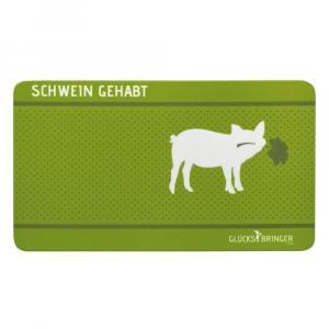 Brotzeitbrett Glücksschwein, Grün