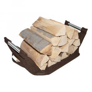 Holzkorbtrage mahagonibraun