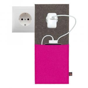 Ladestation Filz, Pink/Grau