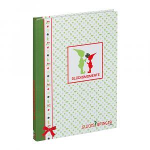 Notizbuch Wichtel, Grün/Weiß/Rot, 100 Seiten