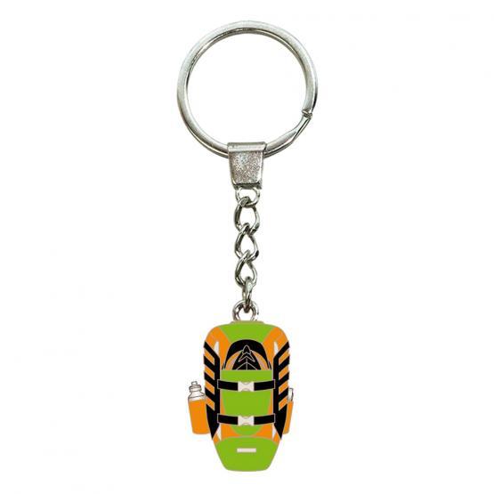 Schlüsselanhänger Rucksack, Grün/Orange