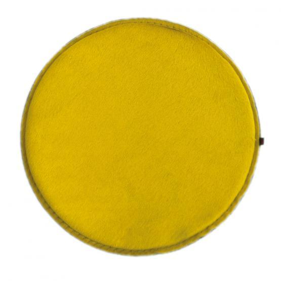 kuhfell kissen rund gelb hellgrau 40 cm ebos. Black Bedroom Furniture Sets. Home Design Ideas