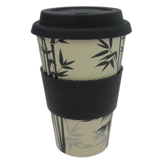 Coffee-to-Go-Becher Bambus, Bamboo Leaf, 400 ml