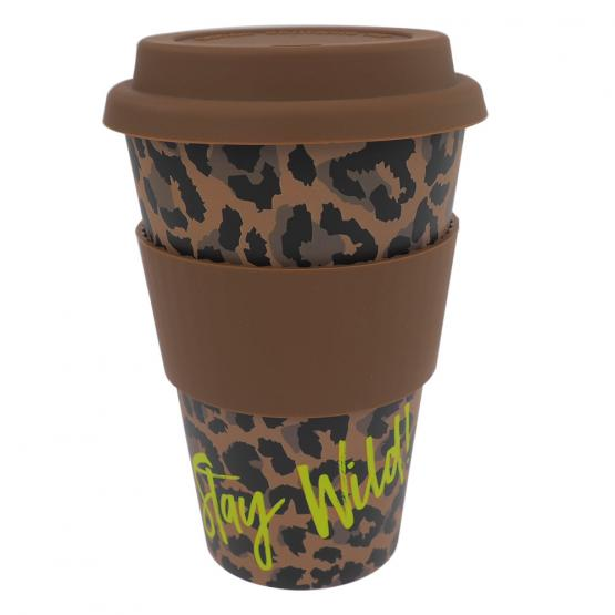 Coffee-to-Go-Becher Bambus, Wild Life, 400 ml