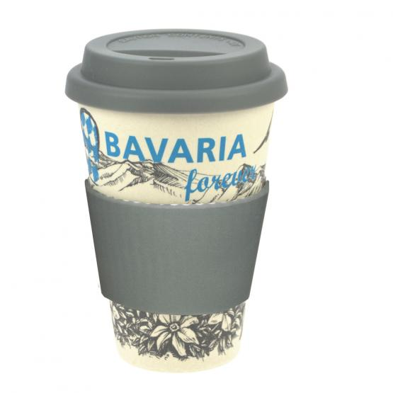 Coffee-to-Go-Becher Bambus, Nostalgie Bavaria, 400 ml