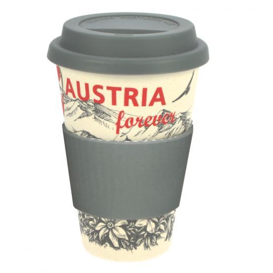 Coffee-to-Go-Becher Bambus, Nostalgie Austria, 400 ml