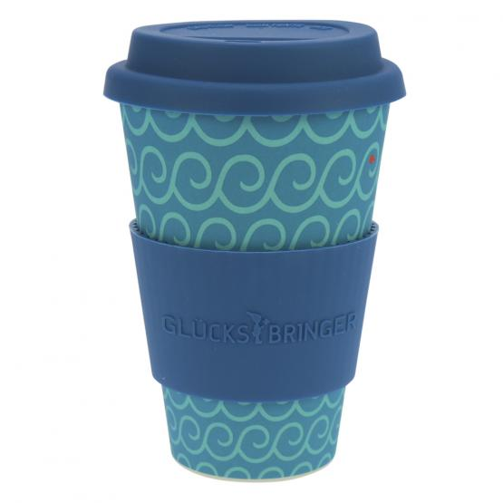 Coffee-to-Go-Becher Bambus, Cool Waves, 400 ml