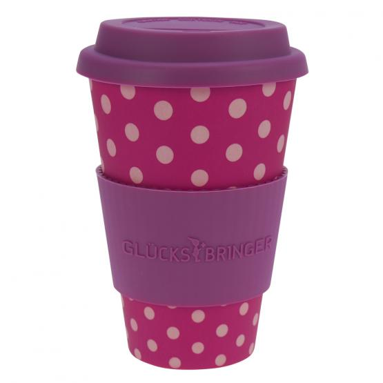 Coffee-to-Go-Becher Bambus, Lady Dots, 400 ml
