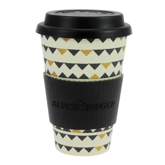 Coffee-to-Go-Becher Bambus, Gartenparty B&G, 400 ml
