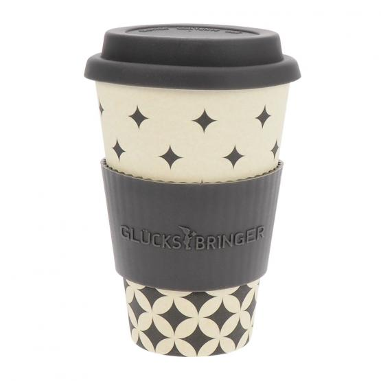 Coffee-to-Go-Becher Bambus, flowing graphics, 400 ml