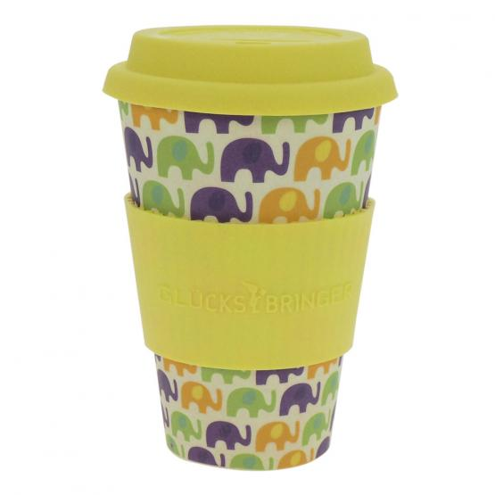 Coffee-to-Go-Becher Bambus, Elephant Love, 400 ml