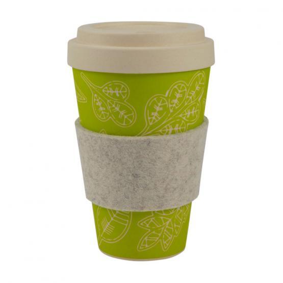 coffee to go becher bambus gl cksblatt 450 ml ebos. Black Bedroom Furniture Sets. Home Design Ideas