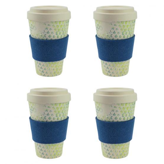 Coffee-to-Go-Becher Bambus 4er Set, Dynamic New II, 450 ml