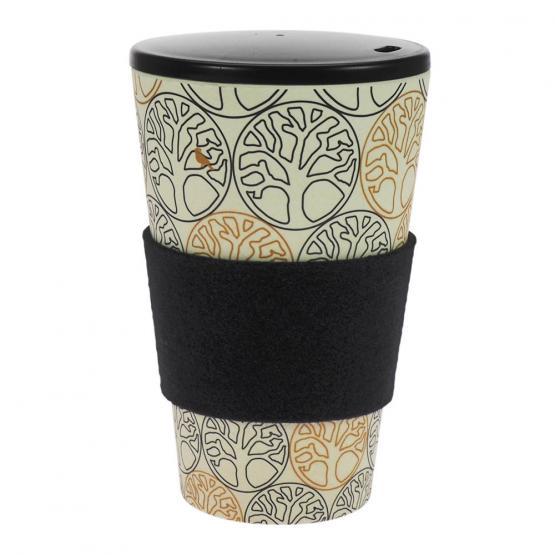Coffee-to-Go-Becher Bambus, Baum des Lebens 2, B&G, 400 ml
