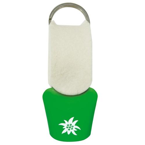 Kuhglocke Filz, Edelweiß, Grün/Weiß