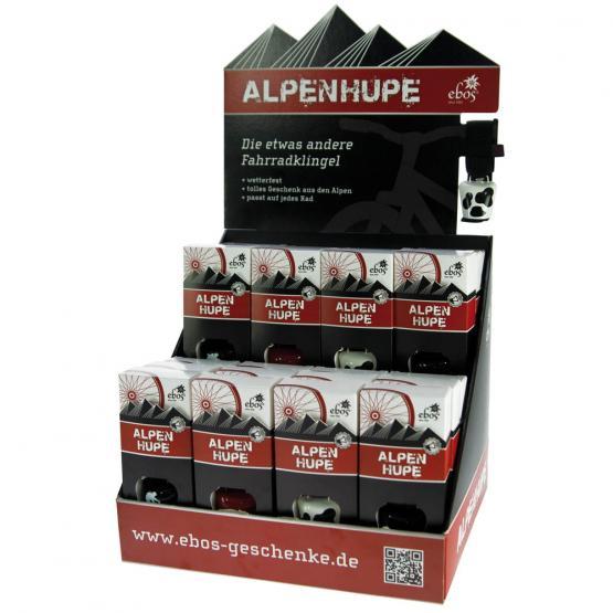 Box Fahrradklingel Alpenhupe, 24 Stück