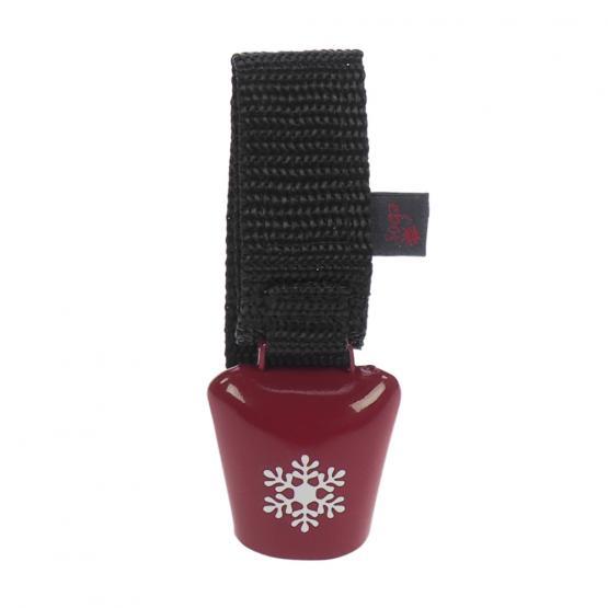 Klingel Alpenhupe Winter Schneeflocke, Rot, Silber