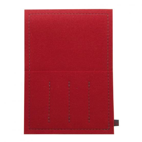 Bestecktasche Filz, Rot