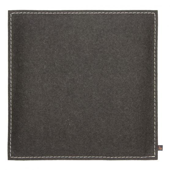 Filz Kissen Quadratisch, Grau, 40 x 40 cm